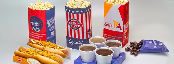 Solución de Packaging para Cines & PopCorn - Bolsas y envoltorios